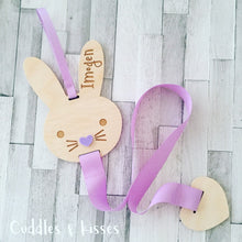 Personalised wooden bunny bow holder