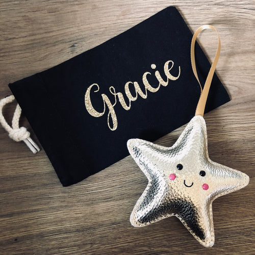 Christmas star decoration in pouch