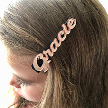 Rose gold personalised mirror clip