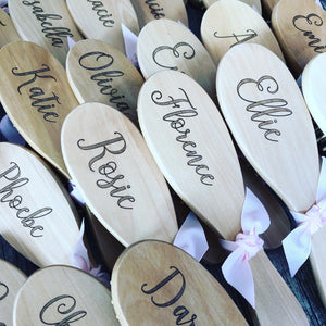 Engraved personalised wooden hairbrush