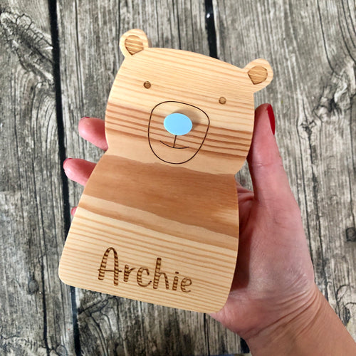 Personalised wooden bear (small)