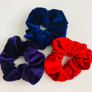 Luxury red velvet scrunchie