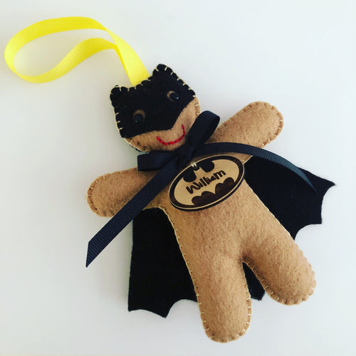 Batman inspired gingerbread superhero