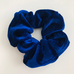Luxury velvet royal blue scrunchie