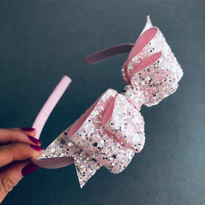 Ballet slipper sparkle pink Alice band