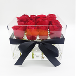 Crystal Clear Love - 16 Red Roses