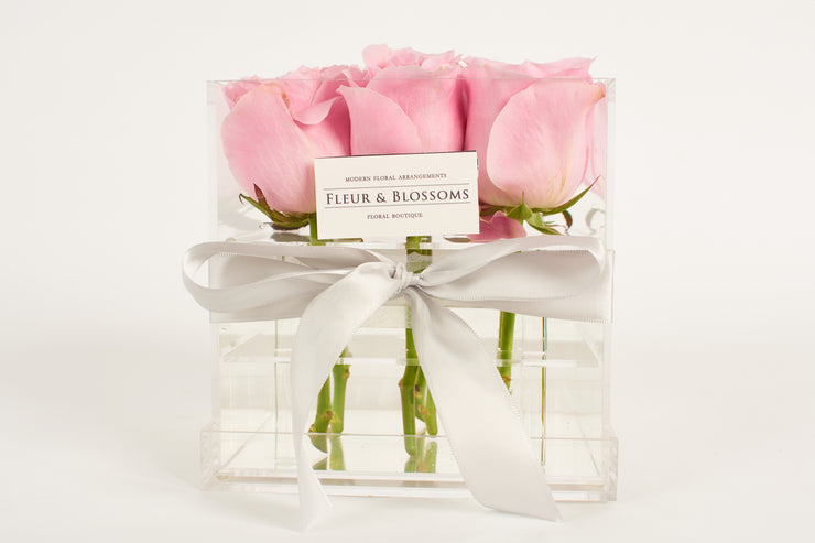Crystal Clear Love - Taffy Pink Roses