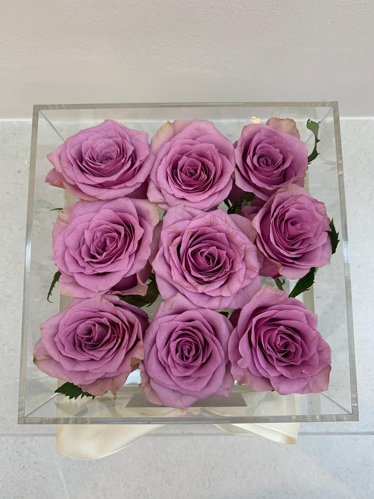 Crystal Clear Love - Purple Blooms