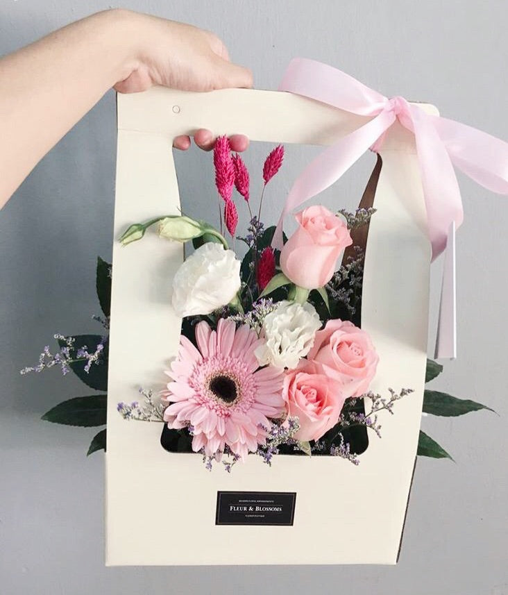 Bloom Bag - Pink Roses, Gerbera