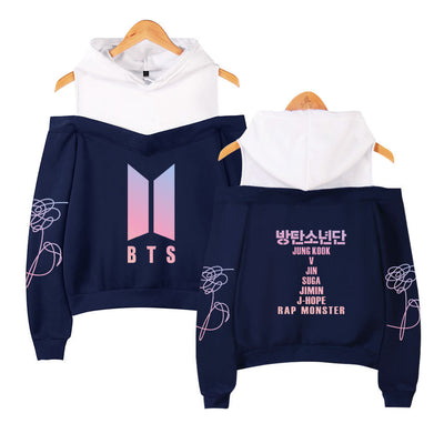 BTS LOVE YOURSELF/Tear Shoulder Hoodie