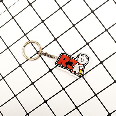 BTS BT21 Name Tag Keychain
