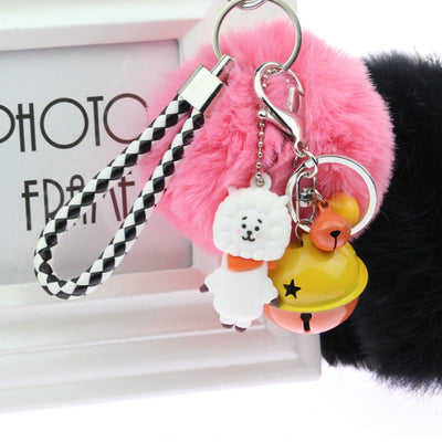 BT21  BTS Keychain With Fluffy Plush