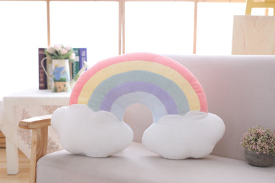Beautiful rainbow pillow