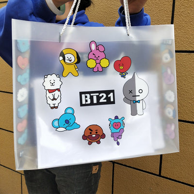 BT21 Transparent PVC Shopping Bag