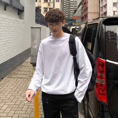 The long-sleeve T-shirt in Korean version