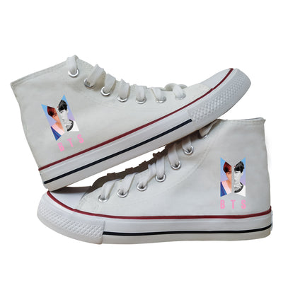 BTS Canvas Korean Style Shoes
