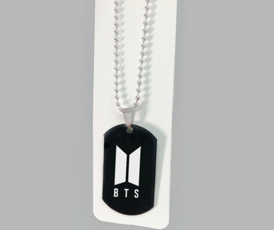 BTS Stainless Steel Necklace With BTS's New Logo Pendant
