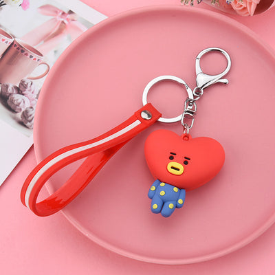 Silicon BT21 Keychain