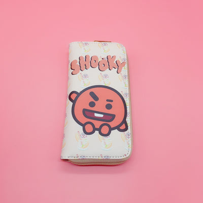 BT21 Zipper Cartoon Cute Long PU Wallet