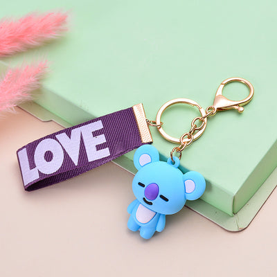BT21 BTS Soft Rubber Doll Keychain