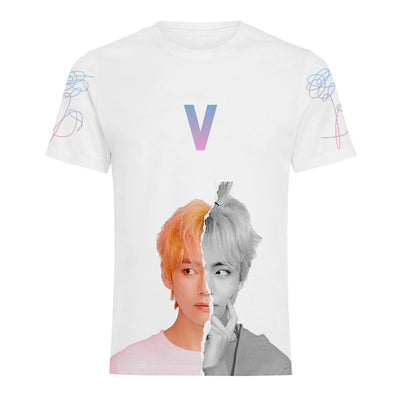 BTS 3D Printed Short Sleeve T-shirts