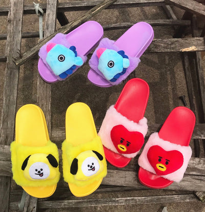 BTS BT21 Fur Slipper
