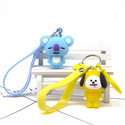 BTS Cartoon Keyring