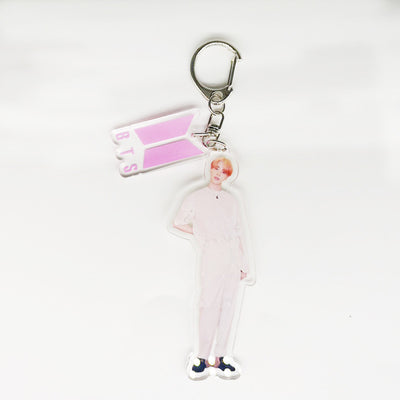 BTS Keychain Keyring With Members Pattern