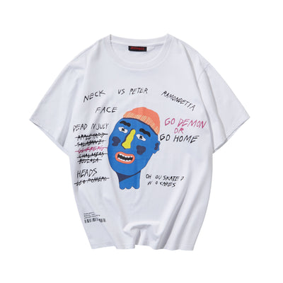 Head Cartoon PrintedT-shirt