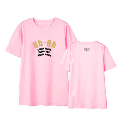 "GIDLE ""Uh Oh"" Printed T-shirt"