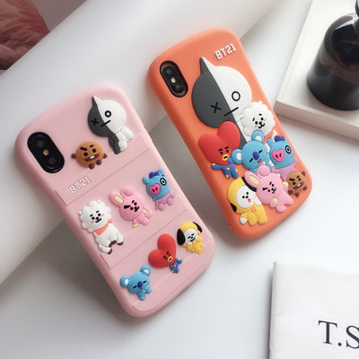BT21 BTS Cute Silicone Phone Case
