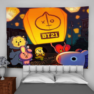BTS-BT21 Tapestry Wall Hanging