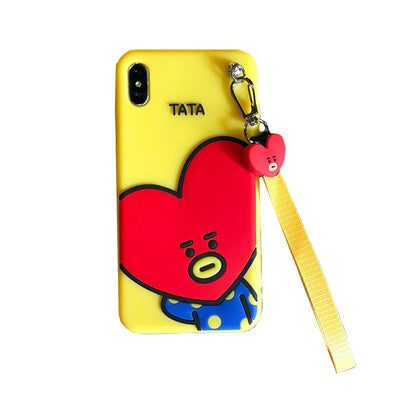 BT21 BTS Silicone Iphone Phonecase