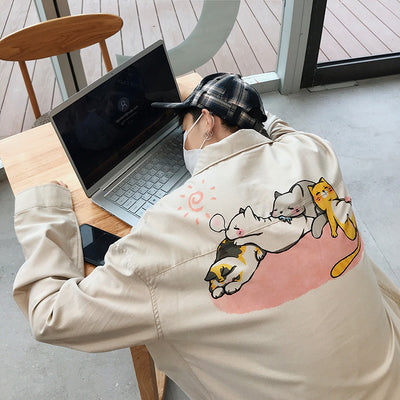 Cartoon Printed Coat