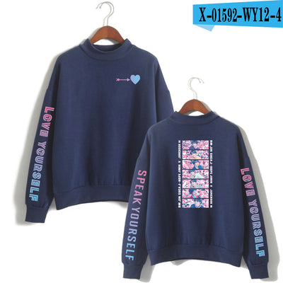 BTS  Round-neck Sweater With Logo
