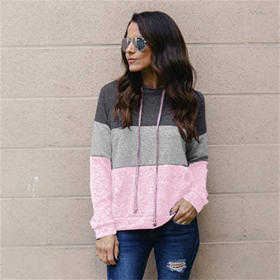 Long-sleeved Splice Sweater