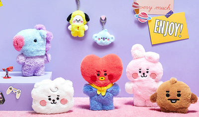 BTS Fluffy Baby Face Plush