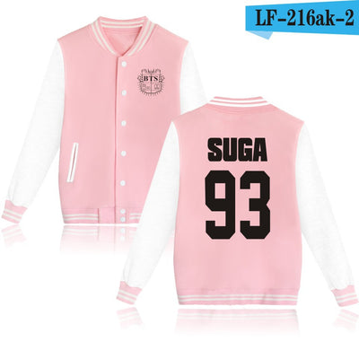 BTS Baseball Jacket Uniform (Pink)