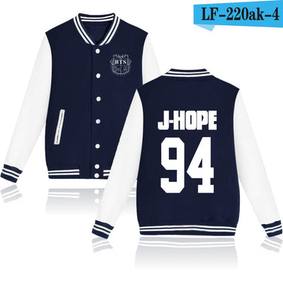 BTS Baseball Jacket Uniform (Navy)