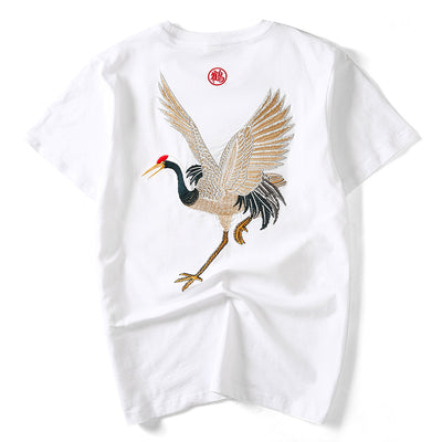Embroidered Crane T-shirt