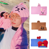 BTS Cartoon Hoody Towel