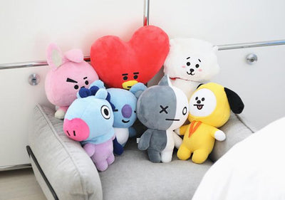 [Buy 1 Get 1 For FREE] BTS Cartoon Standing Plushies