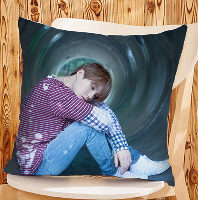 BTS Square Short Cotton Pillow
