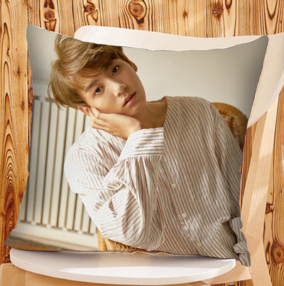 BTS Square Short Cotton Pillow Jungkook