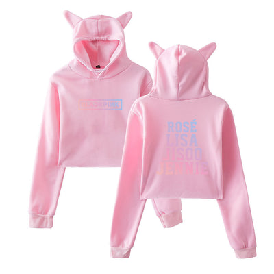 BLACKPINK CROP TOP SWEATSHIRT