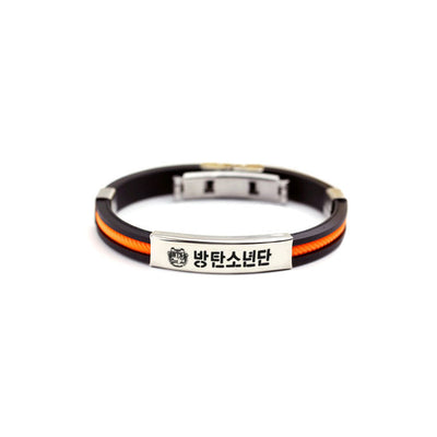BTS WNIGS Stainless Steel Silicone Bracelet