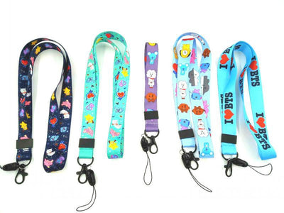 BT21 Family With Mobile Phone Lanyard