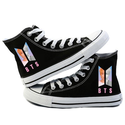 BTS Canvas Shoes (black-V)
