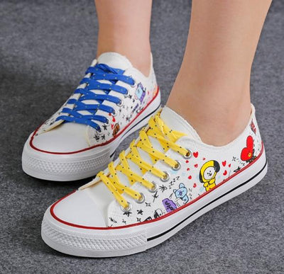 BTS Cartoon Shoes