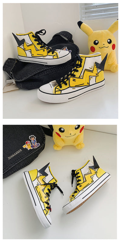The trendy pikachu canvas shoes for students